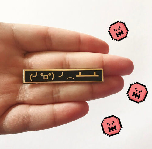Table Flip Emoji Pin - OhYouFox