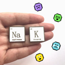 'K, it's not ok' Periodic Symbol Pin - OhYouFox