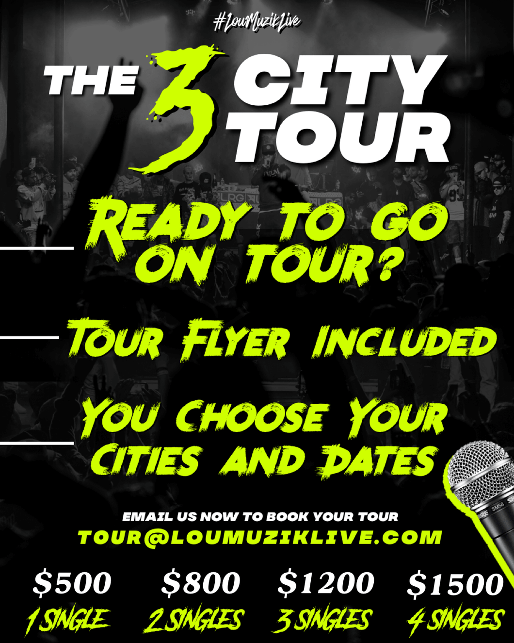#LouMuzikLive 3 City Tour | 3 Singles | Hip Hop