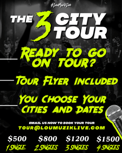 #LouMuzikLive 3 City Tour | 4 Singles | Hip Hop