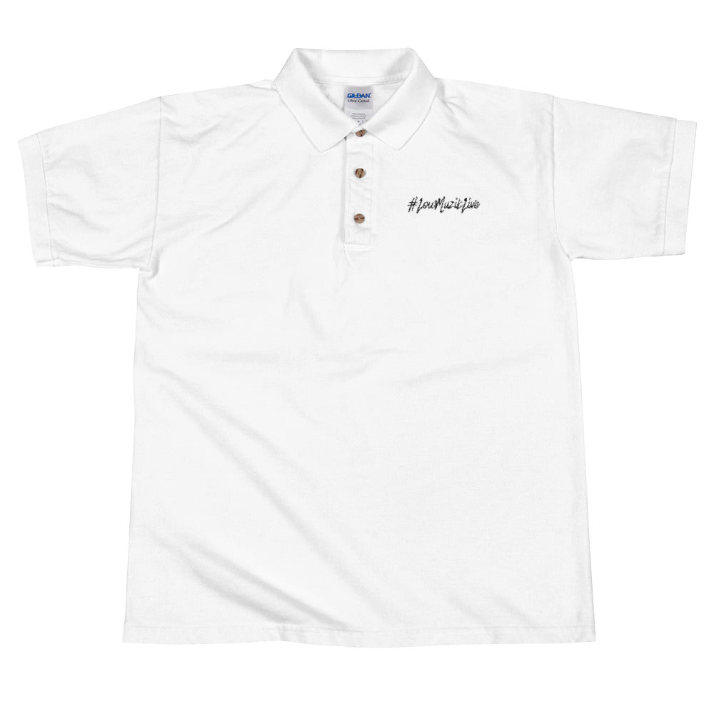 #LouMuzikLive Embroidered Polo Shirt