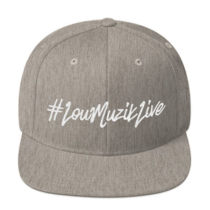 #LouMuzikLive Flat Embroidered Snapback Hat