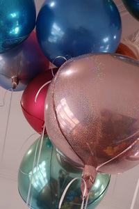 Orb Balloon Prismatic Pink