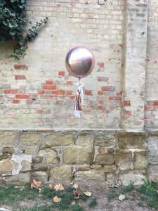 Orb Rose Gold Balloon