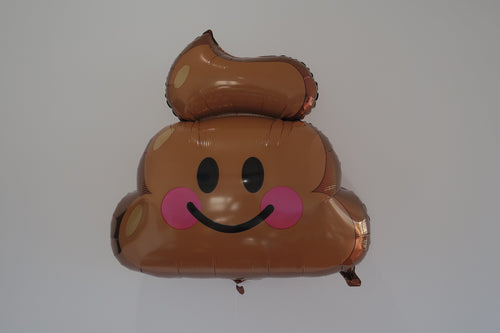 Smiley Poop Balloon