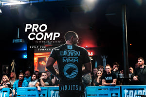 Pro Comp Custom BJJ Rashguard. Add Logos and Sponsors to the rashguard. Great for club rashguards and can be made in any colour. Perfect training rashguard for MMA, BJJ, Muay Thai and Grappling. The Pro Comp was developed for competition IBJJF