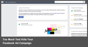 How-To Guarantee Text Won't Ruin Your Facebook Ad Campaigns