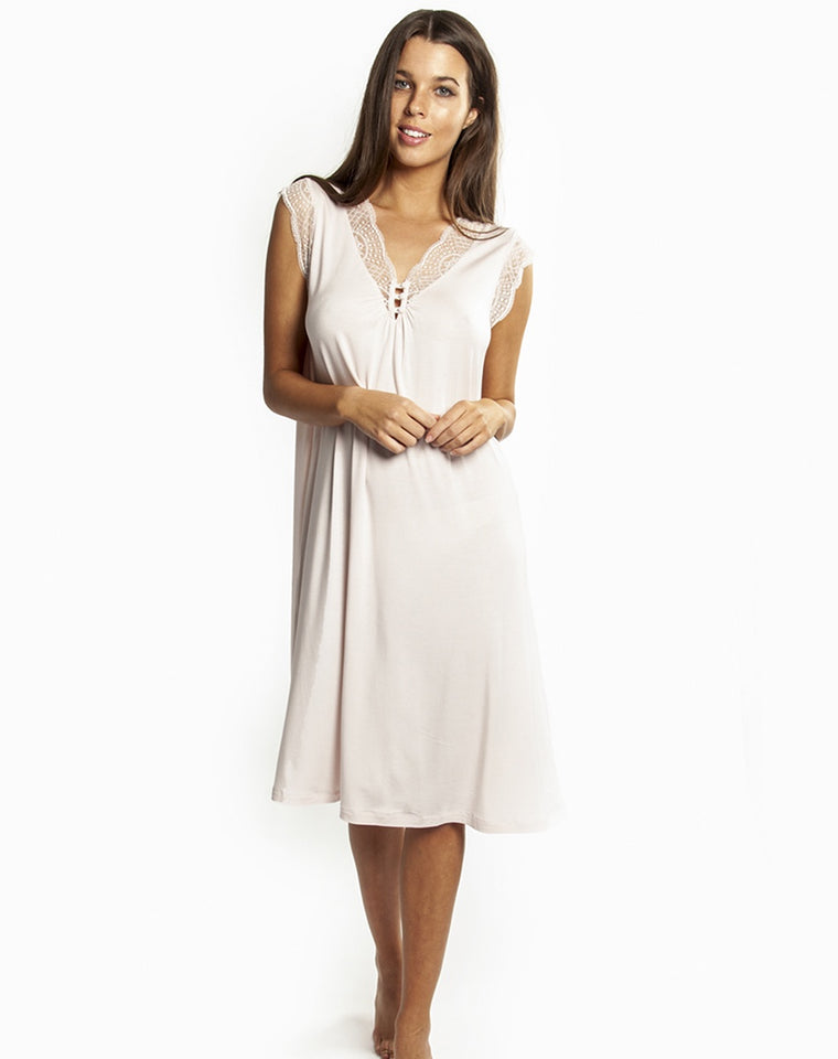 La Femme sleeveless Nightdress