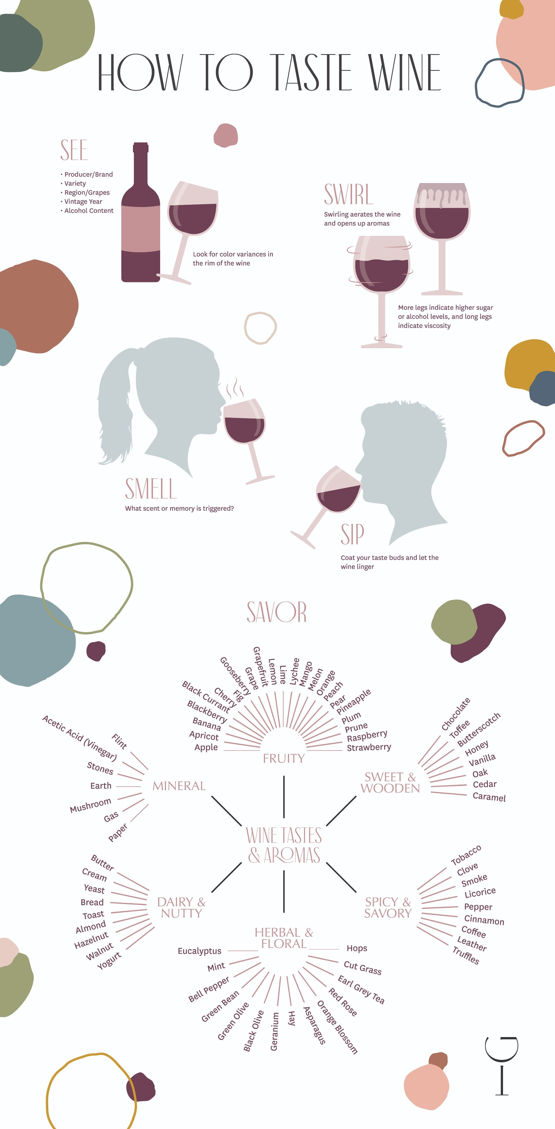 How to Properly Taste Wine - Infographic