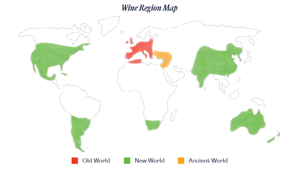 Wine Regions Map for Passport Collection
