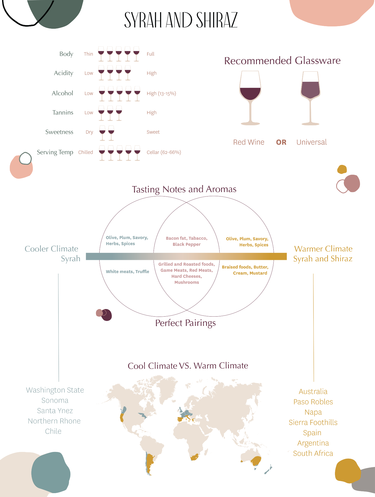 What's the Difference Between Syrah and Shiraz Wines - Infographic