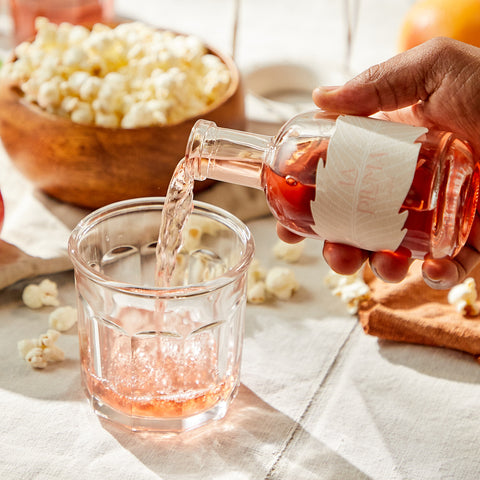 Rose Wine Paired with Popcorn