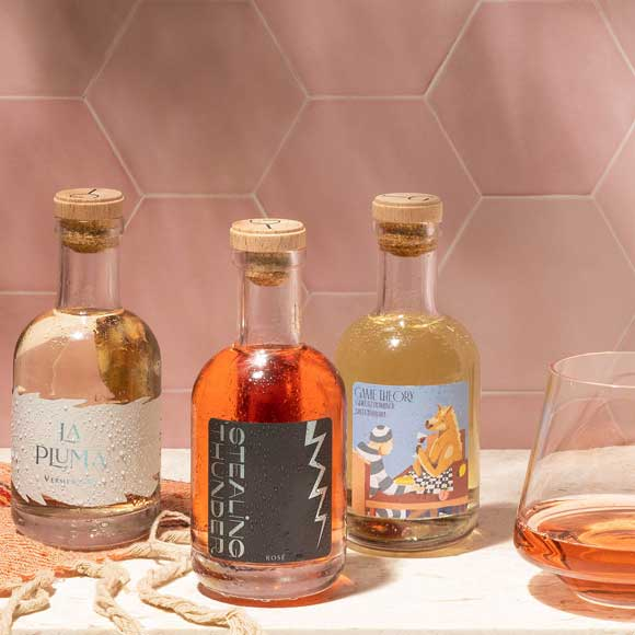 white and rose wines