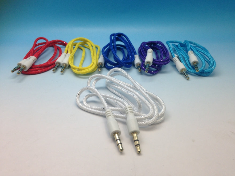 Auxiliary Cable 3.5 to 3.5mm (Braided Rope)