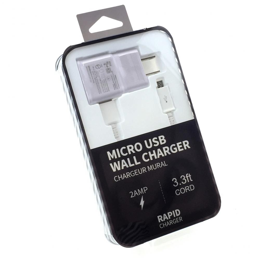 2 in 1 Home Charger - Samsung Galaxy (Micro USB Rapid Charger)