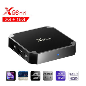 X96 Mini Android 7.1 TV Box Amlogic S905W Quad-core 64 Bit DDR3 2GB 16GB 4K UHD WiFi & LAN VP9 DLNA H.26