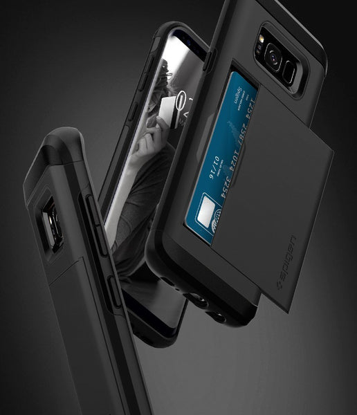 Galaxy S8 Case / Galaxy S8 Card Holder Case, Spigen Slim Armor CS - Slim Dual Layer Wallet Design and Card Slot Holder for Samsung Galaxy S8