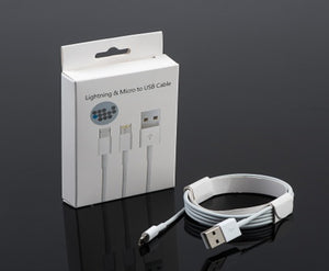 Lightning and Micro USB Data Cable (Double Sided)
