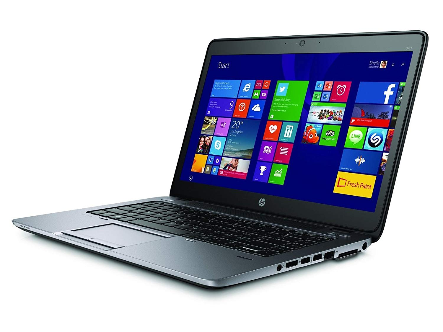"HP EliteBook 840 G2 14"" Laptop, Intel i5-5300u, 8GB RAM, 256GB SSD, Windows 10 Pro"