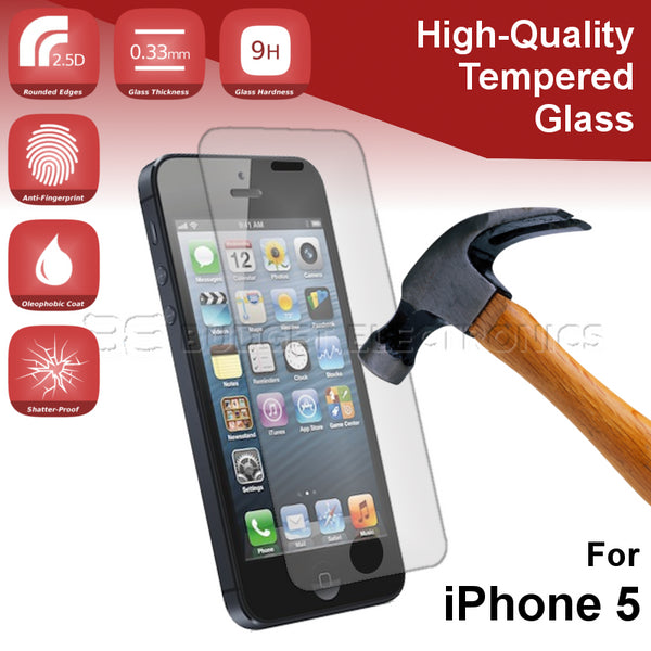 Tempered Glass Screen Protector - iPhone 5/5S/SE