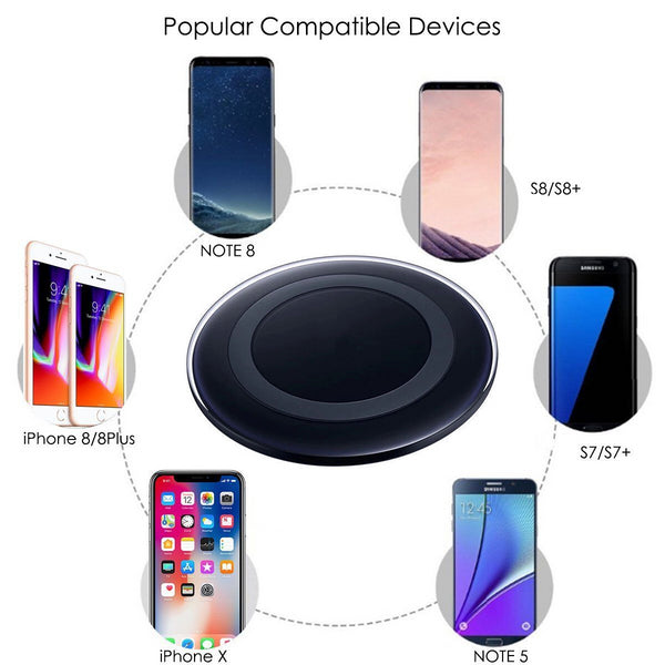 Wireless Qi Charger - iPhone 8/iPhone X/Samsung S8