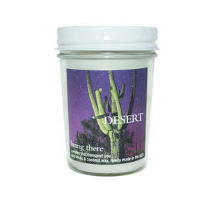 """BEING THERE"" DESERT, Mineral Rich Sand & Desert Flowers, 8 oz. Jar Candle"