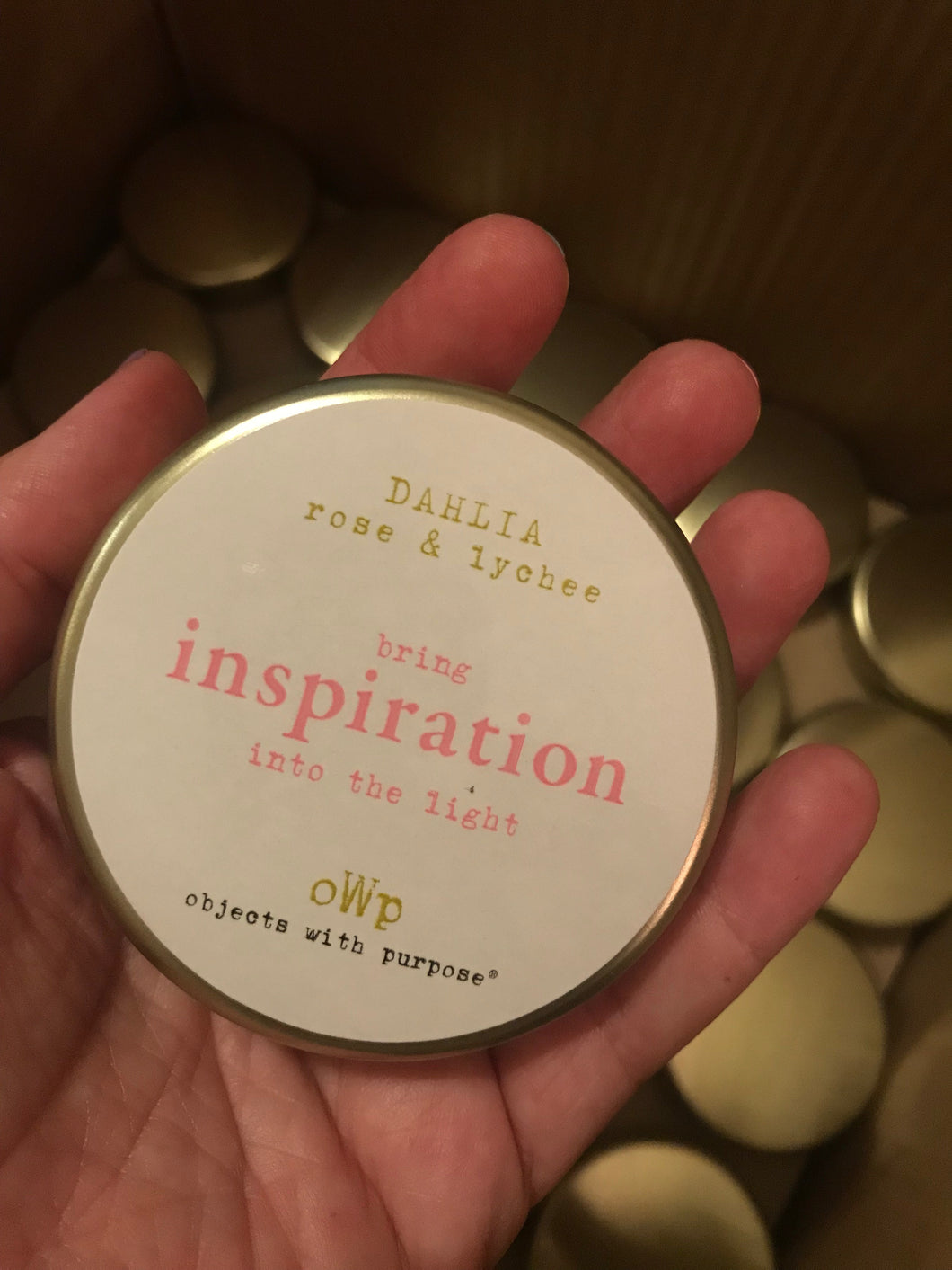 inspiration, 5 oz Tin Candle