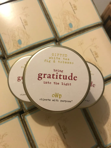 gratitude, 5 oz Tin Candle