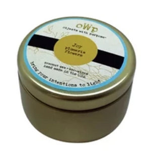 JOY, Plumeria, 5 oz. Tin Candle