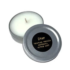STAR, Tahitian Vanilla Cardamom & Lime, 1 oz. Tin Candle