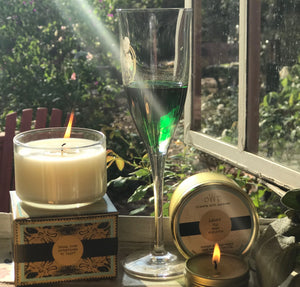 ASHER, Black Fig & Sage, Large Glass Candle