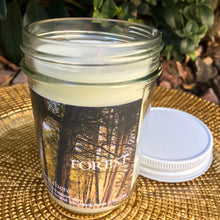 "Load image into Gallery viewer, ""BEING THERE"" FOREST, Tea Leaves Tobacco & Berries, 8 oz. Jar Candle"