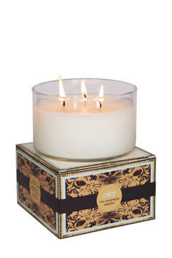 DAHLIA, Pomegranate Rose & Lychee, Large Glass Candle
