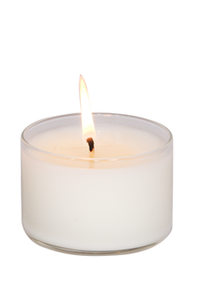 (12) JOY, Plumeria, Medium Glass Candles