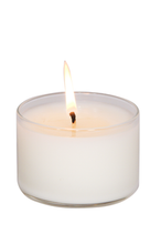 Load image into Gallery viewer, DAHLIA, Pomegranate Rose & Lychee, Medium Glass Candle