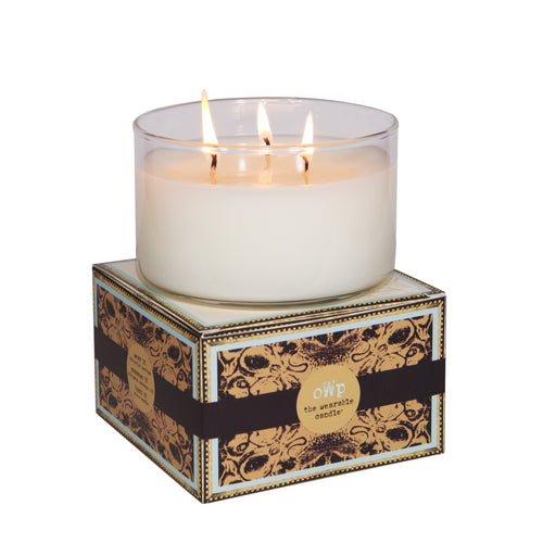 STAR, Tahitian Vanilla Cardamom & Lime, Large Glass Candle