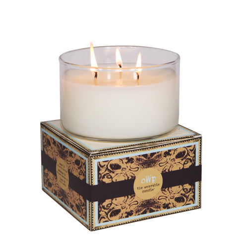 ANTONIA'S TURN, Patchouli Sandalwood & Tuberose, Large Glass Candle