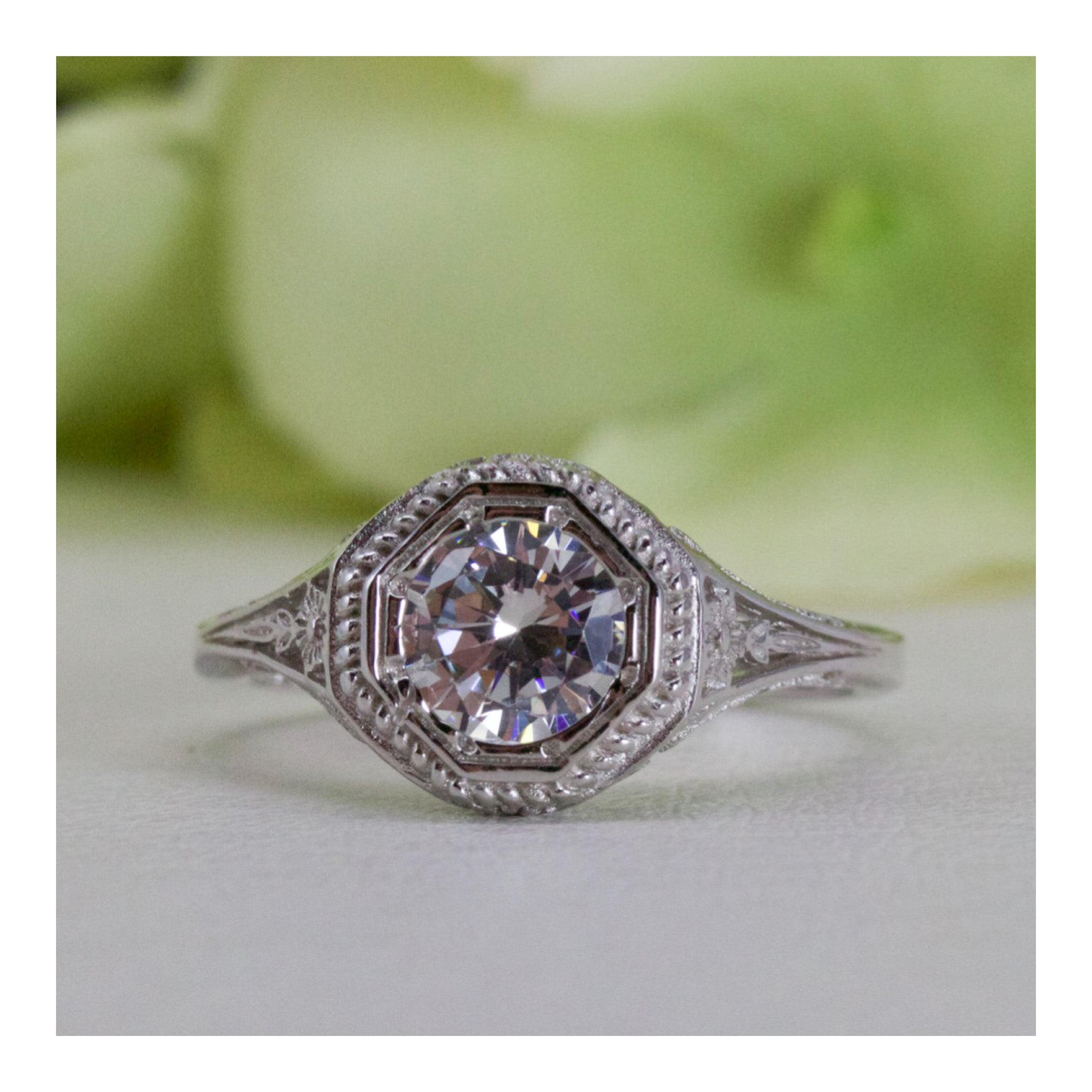 winston kept silver peach band grandma size filigree product things cushion morganite ring vintage bands sterling charles carat cz double statement cut