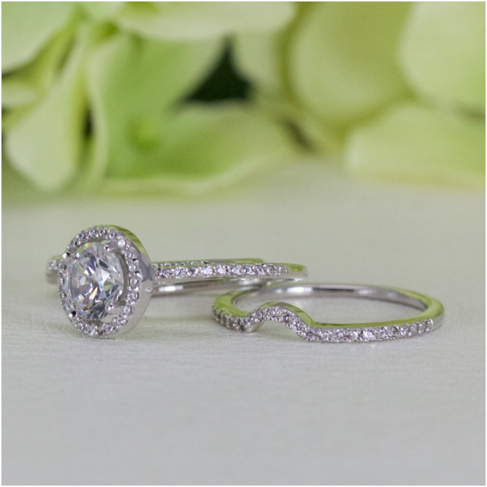 wedding rings ebay bridal band ring glenda itm engagement set full stone