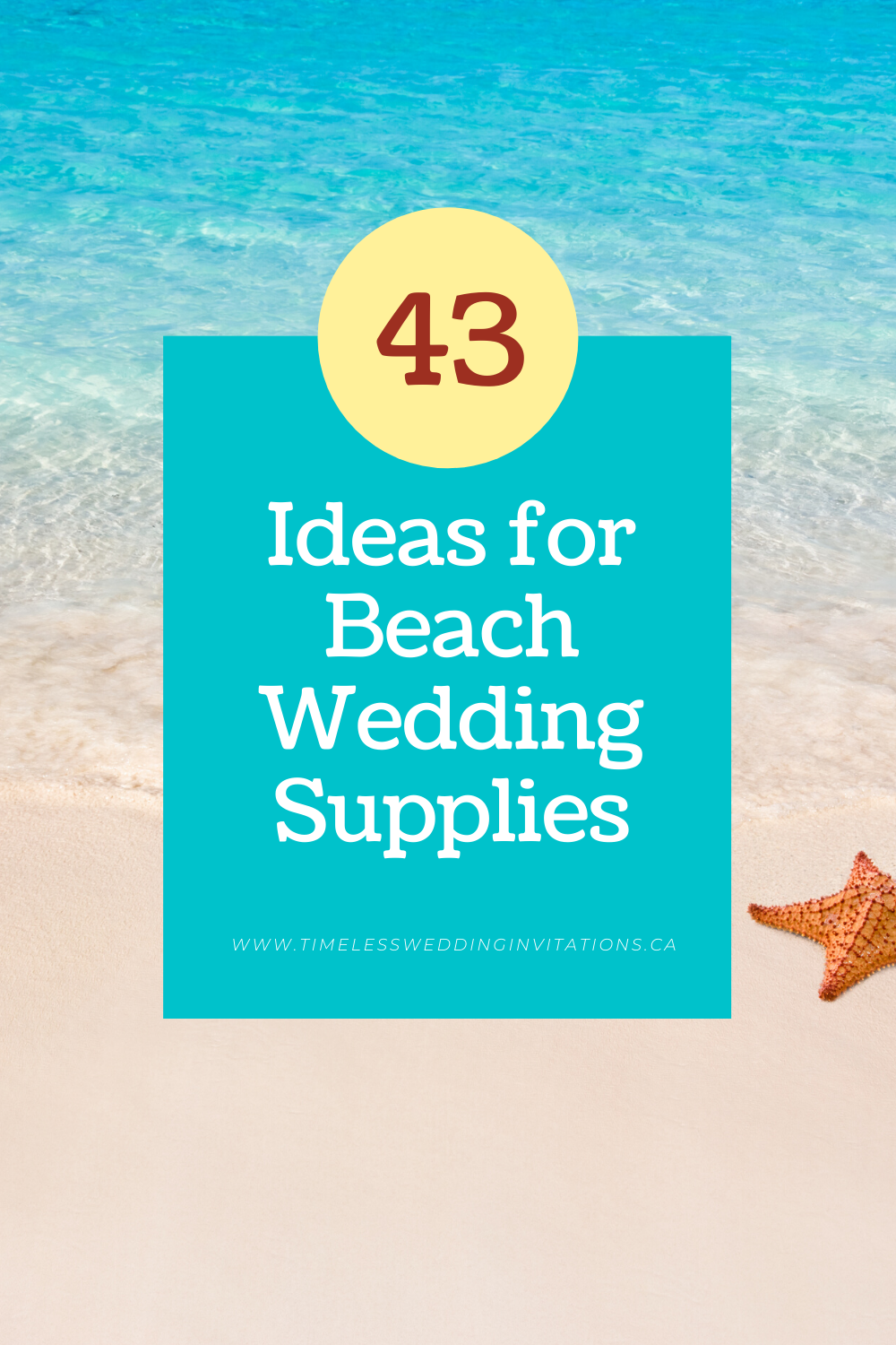 43 Ideas for Beach Wedding Supplies