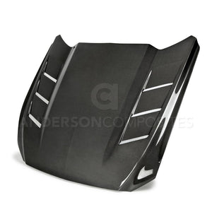 Anderson Composites 15-17 S550 Mustang Carbon Fiber Hood