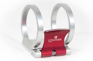 "Course Motorsports Cam-Lock 3"" Fire Extinguisher Quick Release For High Vibration Applications Red/ Aluminum"