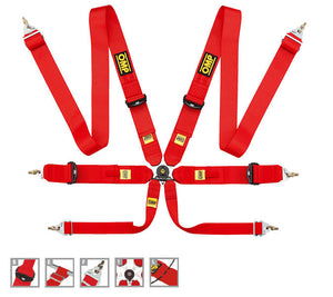 "OMP Competition 6pt Harness, 3"" Belts"