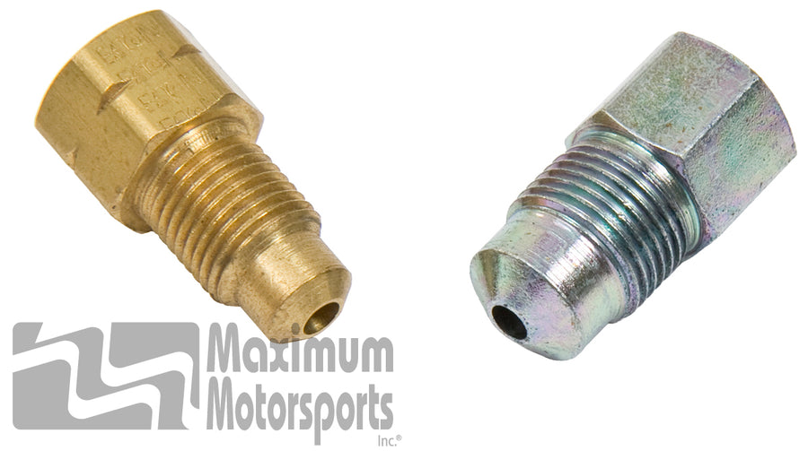 Brake adapter fittings, 1993 Cobra, 1994-95 Cobra & GT master cylinders