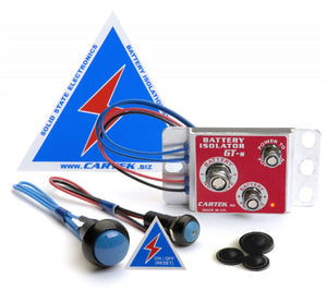 Cartek GT Battery Isolator Kit with Blue Buttons