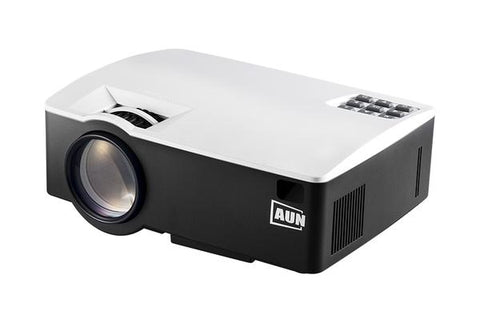 AUN LED Mini Projector, 1800 Lumens, Supports Full HD, WiFi, Bluetooth, 3D, 4K Video, AKey1Plus