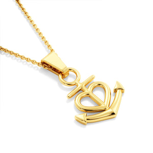 Friendship Anchor Gold Necklace with Message Card