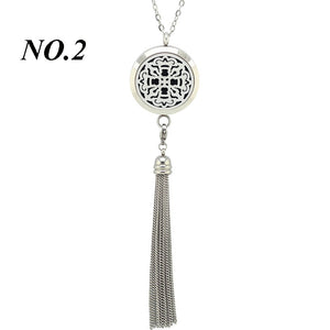 Tassel Stainless Steel Essential Oli Diffuser Necklace