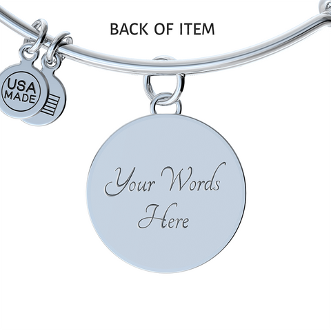 """Love You to the Moon& Back Mom!"" Necklace or Bangle Bracelet"