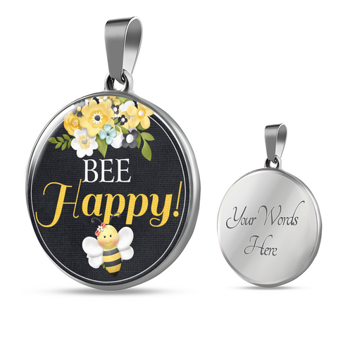 """Bee Happy!"" Bangle Bracelet or Necklace"